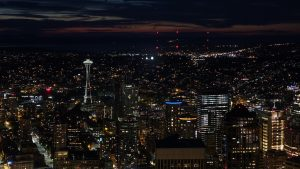 Seattle city view during the night.